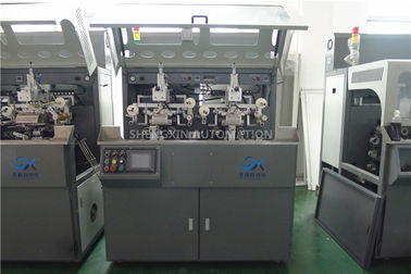 Multicolor Continuous Hot Foil Plastic Stamping Machine Side Wall